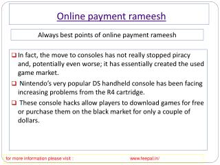 A short review on online payment rameesh