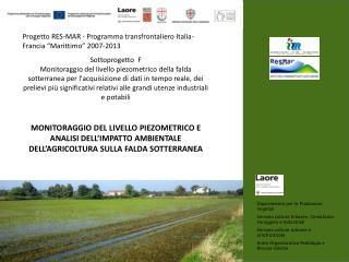 """Progetto RES-MAR - Programma transfrontaliero Italia- Francia """"Marittimo"""" 2007-2013"""