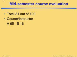Mid-semester course evaluation