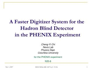 A Faster Digitizer System for the  Hadron Blind Detector  in the PHENIX Experiment