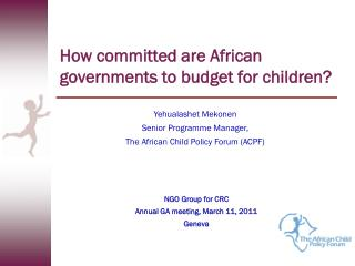 How committed are African governments to budget for children?