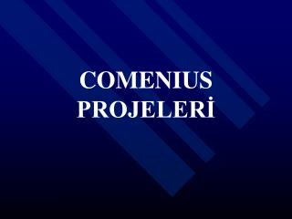 COMENIUS PROJELERİ