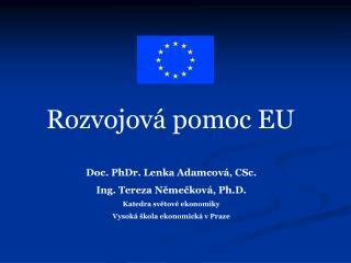 Rozvojov� pomoc EU