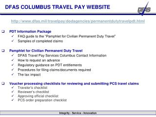 DFAS COLUMBUS TRAVEL PAY WEBSITE