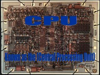 Slide 1 � CPU Acronym