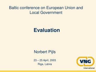 Baltic conference on European Union and Local Government