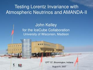 Testing Lorentz Invariance with Atmospheric Neutrinos and AMANDA-II