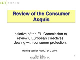 Review of the Consumer Acquis