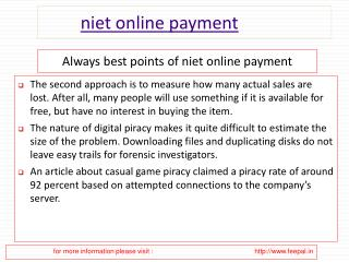 Tips for a Successful submission niet online payment