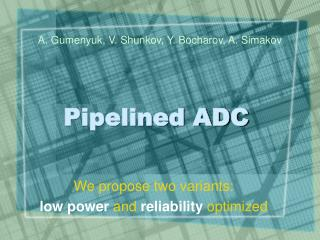 Pipelined ADC