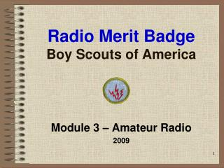 Radio Merit Badge Boy Scouts of America