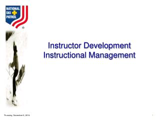 Instructor Development Instructional Management
