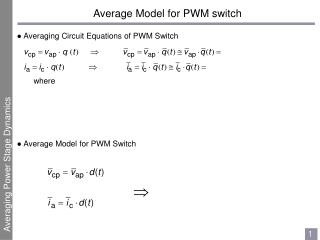 Average Model for PWM switch