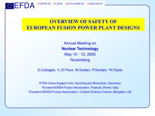 OVERVIEW OF SAFETY OF  EUROPEAN FUSION POWER PLANT DESIGNS
