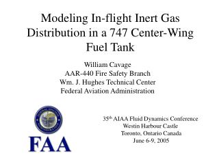 Modeling In-flight Inert Gas Distribution in a 747 Center-Wing Fuel Tank