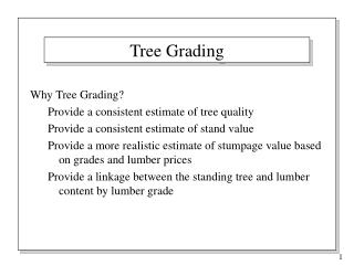Tree Grading