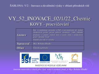 VY_52_INOVACE_02/1/22_Chemie