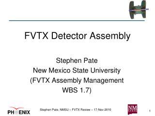 FVTX Detector Assembly