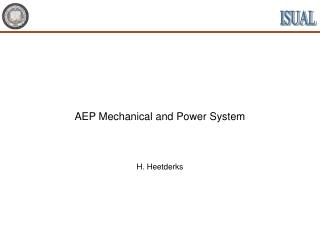 AEP Mechanical and Power System