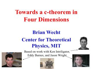 Towards a c-theorem in Four Dimensions