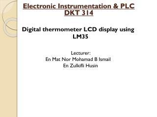 Electronic Instrumentation & PLC DKT 314