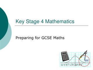 Key Stage 4 Mathematics