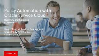 Policy Automation with  Oracle Service Cloud