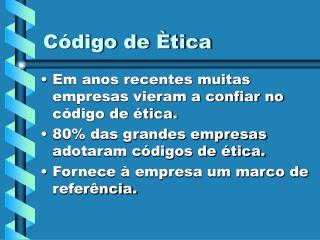 Código de Ètica