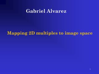 Mapping 2D multiples to image space