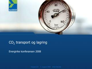 CO 2  transport og lagring