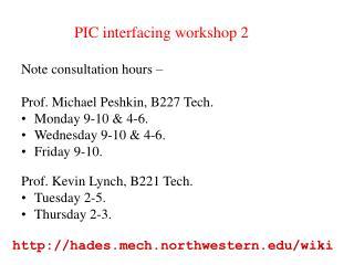 PIC interfacing workshop 2