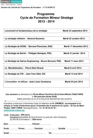 La stratégie  militaire - Général  Boulnois Mardi  22 octobre 2013
