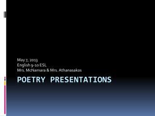 Poetry Presentations