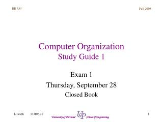 Computer Organization Study Guide 1