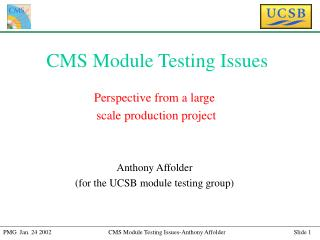 CMS Module Testing Issues