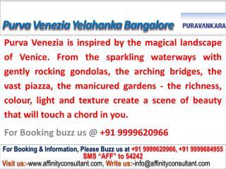 Purva Venezia Yelahanka Bangalore @ 09999620966