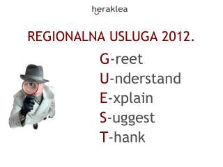 REGIONALNA USLUGA 2012.
