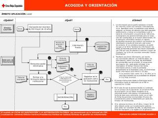 ACOGIDA Y ORIENTACIÓN