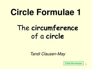 Circle Formulae 1