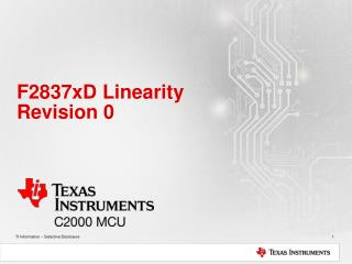 F2837xD Linearity Revision 0