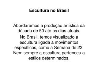 Escultura no Brasil