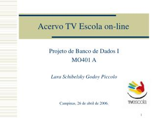 Acervo TV Escola on-line
