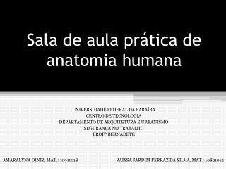 Sala de aula pr�tica de anatomia humana