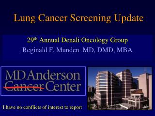 Lung Cancer Screening Update