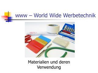 www – World Wide Werbetechnik