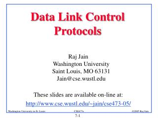 Data Link Control Protocols