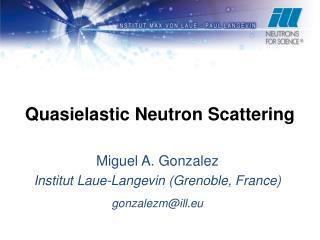 Quasielastic Neutron Scattering