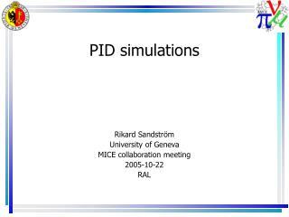 PID simulations