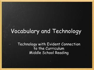 Vocabulary and Technology