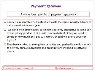 How to Choose a Right way for payment gateway